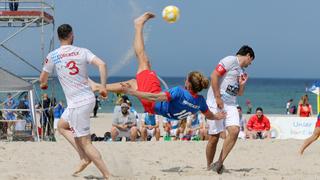 Auftakt der Deutschen Beachsoccer-Liga in Rostock