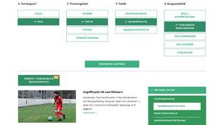 So trainieren Sie mit DFB-Training online