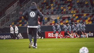 Erstes Training in Düsseldorf