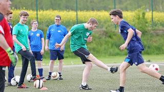 Inklusionsfußball: Pass-Wettbewerbe sorgen für Spaß und Spannung