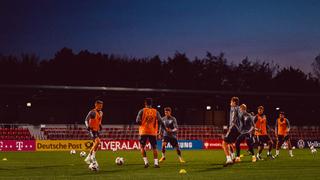 Vorbereitung auf das Spanien-Spiel