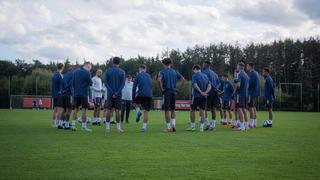 Erste Einheit unter Cheftrainer Di Salvo
