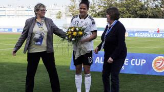 Celia Sasic bestreitet ihr 100. Länderspiel