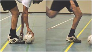 Blindenfußball: Gezielter Torschuss