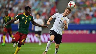 Werner ist Spieler des Kamerun-Spiels