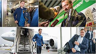 Erschöpft, aber überglücklich: EM-Helden zurück in Deutschland