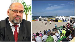 Minister Glawe: Beachsoccer passt perfekt nach Warnemünde