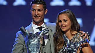 Ronaldo erneut Europas Fußballer des Jahres - Martens siegt vor Marozsan