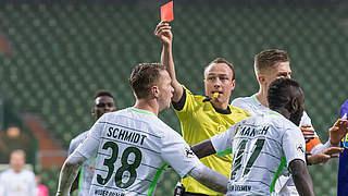 Drei Spiele Sperre und ein Spiel auf Bewährung für Bremens Schmidt