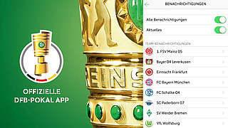 Push-Nachrichten in der DFB-Pokal-App