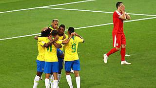 2:0 gegen Serbien: Brasilien Gruppensieger