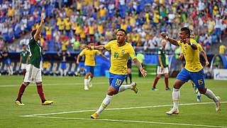 2:0 gegen Mexiko: Neymar führt Brasilien ins Viertelfinale