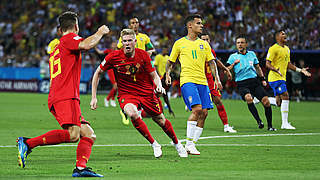 Krimi gegen Brasilien: Belgien im Halbfinale