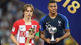 Kroate Modric bester Spieler der WM, Mbappé ist bester Rookie