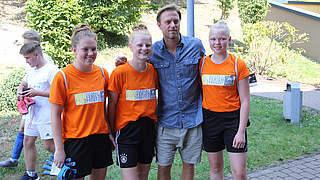 Timo Hildebrand zu Gast bei der Fußball-Ferien-Freizeit in Hennef