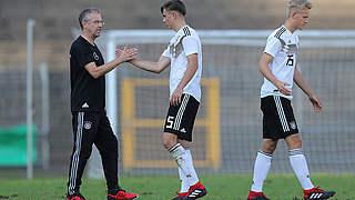 U 17 zweimal gegen Dänemark: Siegermentalität aufbauen