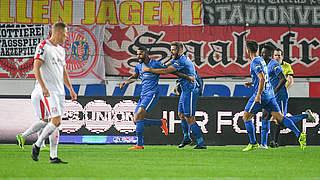 Rostock gewinnt 1:0 in Halle