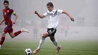 U 16 gewinnt erneut gegen Tschechien