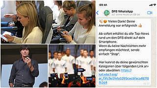 Wichtige DFB-News über WhatsApp