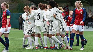 4:0 vs. Norwegen: U 17-Juniorinnen zur EM