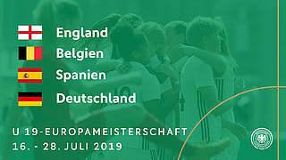 EM: U 19 gegen England, Belgien, Spanien