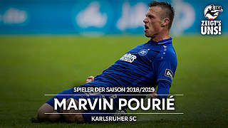 KSC-Stürmer Pourié ist Spieler der Saison