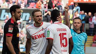 Zwei Spiele Sperre für Kölns Cordoba