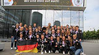 Europameisterinnen im Dortmunder Fußballmuseum empfangen