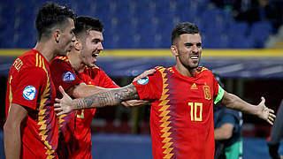 U 21-EM: Spanien erster Halbfinalist