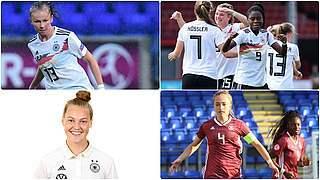Vier deutsche U 19-Frauen im Team der EM