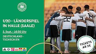 U 20-Tickets für Länderspiel in Halle/Saale