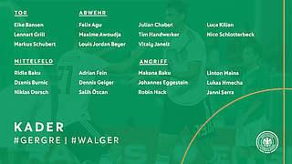 Kuntz beruft 19 Debütanten in neue U 21