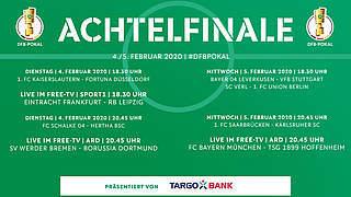 Pokalachtelfinale: Drei Spiele live im Free-TV