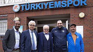 Keller und Cacau zu Besuch bei Türkiyemspor