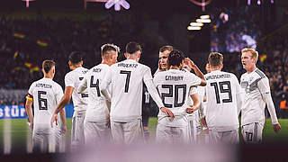 Die Mannschaft in Basel gegen die Schweiz