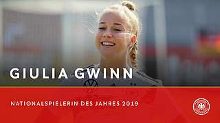 Gwinn ist Nationalspielerin des Jahres 2019