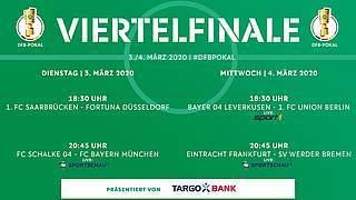 Drei Viertelfinalspiele live im Free-TV