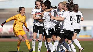 5:4 im Elfmeterschießen: U 16-Juniorinnen besiegen Frankreich
