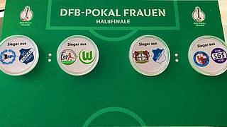 DFB-Pokal der Frauen: Halbfinale ausgelost