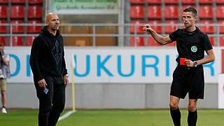 Ein Spiel Innenraumverbot für Mannheims Trainer Trares