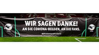 #MitAbstandAnders: Die 3. Liga sagt Danke