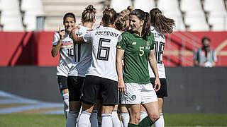 3:0 im Video: DFB-Frauen voll auf EM-Kurs