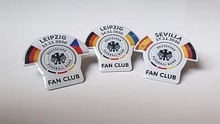 Jetzt bestellen: Pin-Dreierpack der November-Länderspiele