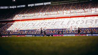 1000 Fans beim Länderspiel in Düsseldorf