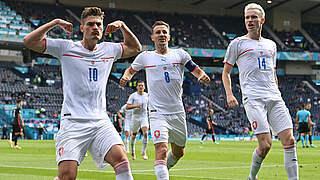 Schick mit drittem Turniertor: Kroatien und Tschechien trennen sich 1:1