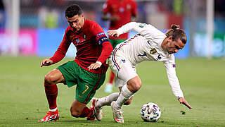 2:2 gegen Weltmeister Frankreich: Titelverteidiger Portugal im Achtelfinale