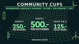Jetztfür die Community Cups anmelden
