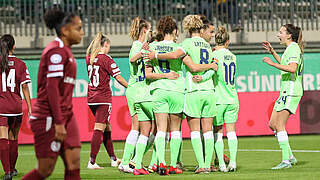 Wolfsburg feiert Kantersieg gegen Genf