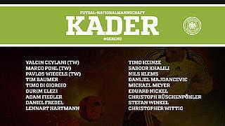 Futsal-Länderspiele: Der deutsche Kader