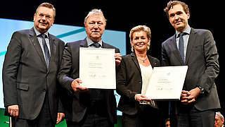 DFB-Verdienstspangen für Neid und Hrubesch